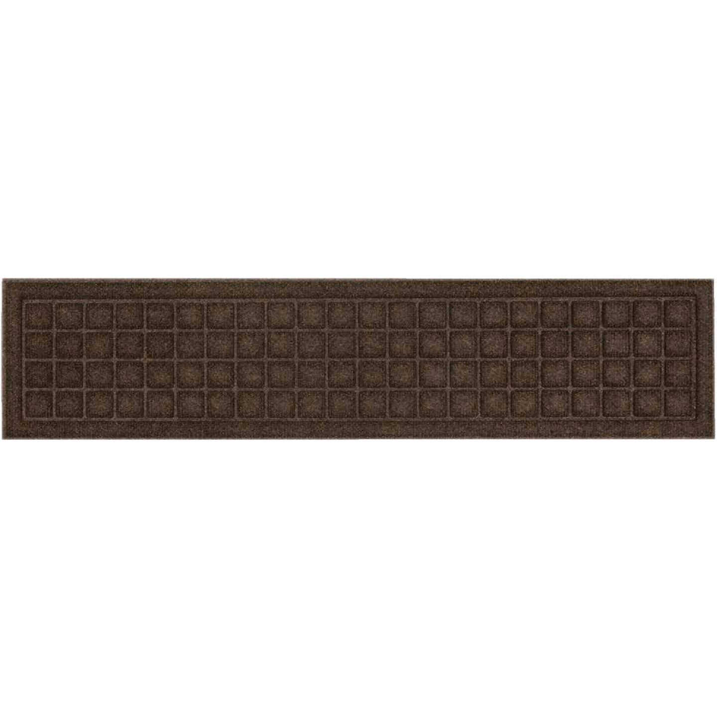 Mohawk Home Square Expressions Brown 8 In. x 36 In. Recycled Rubber Stair Tread Image 2