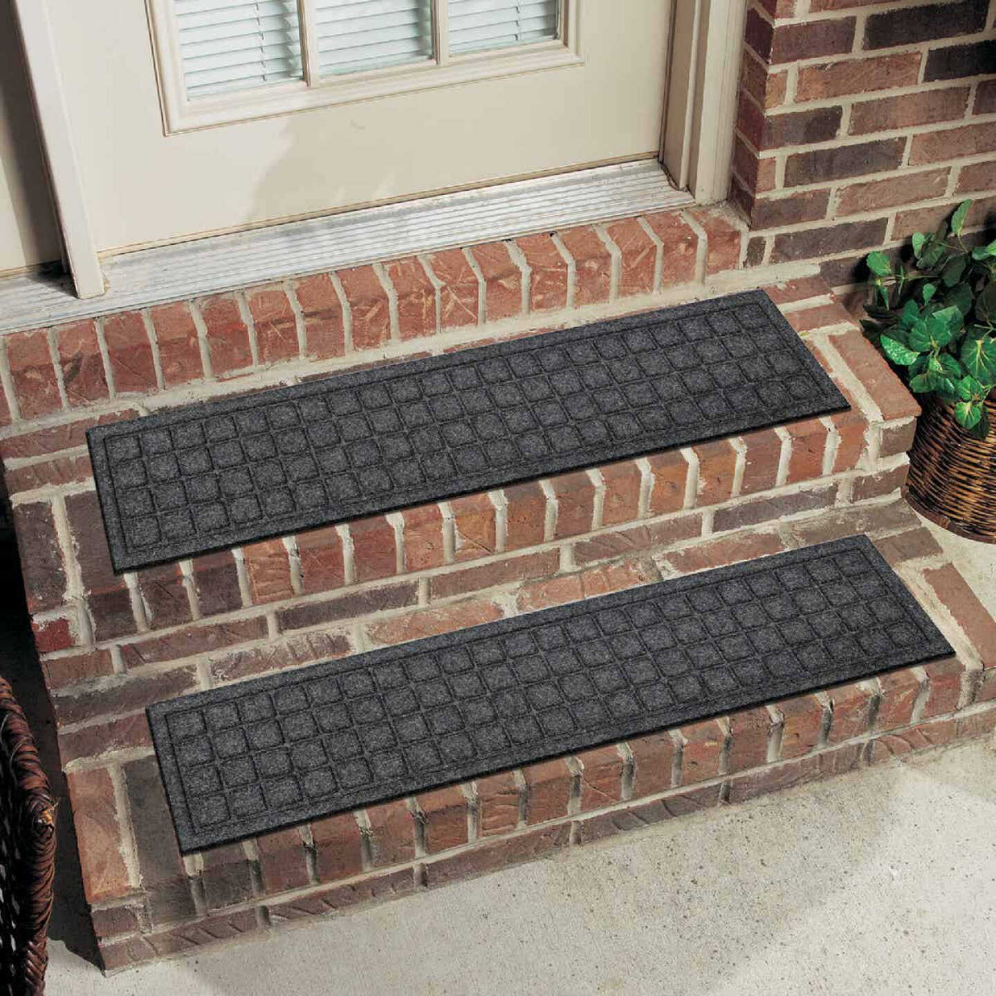 Mohawk Home Square Expressions Brown 8 In. x 36 In. Recycled Rubber Stair Tread Image 1