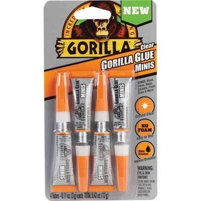 Gorilla 0.42 Oz. Clear Mini All-Purpose Glue (4-Pack)