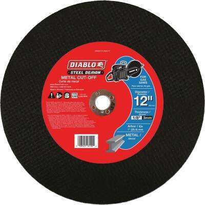 Diablo Steel Demon 12 In. x 1 In. Metal High Speed Cut Off Disc