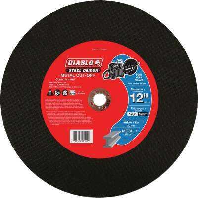 Diablo Steel Demon 12 In. x 20mm Metal High Speed Cut Off Disc