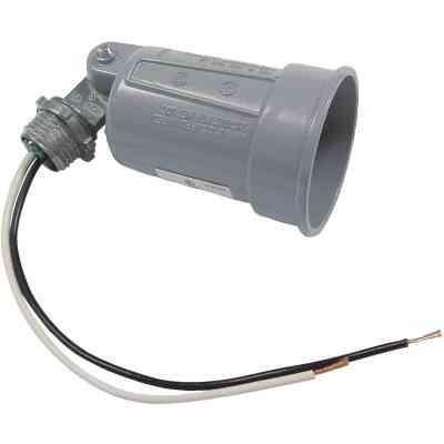 Bell 150W PAR38 Gray Single Bulb Weatherproof Outdoor Lampholder, Shrink Wrapped