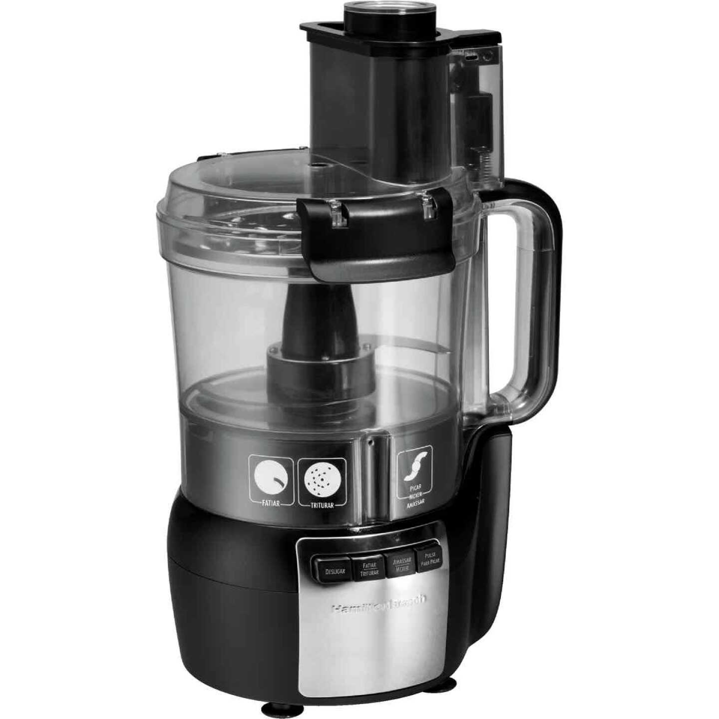 Hamilton Beach Stack & Snap 10-Cup Black Food Processor with Big Mouth Image 3