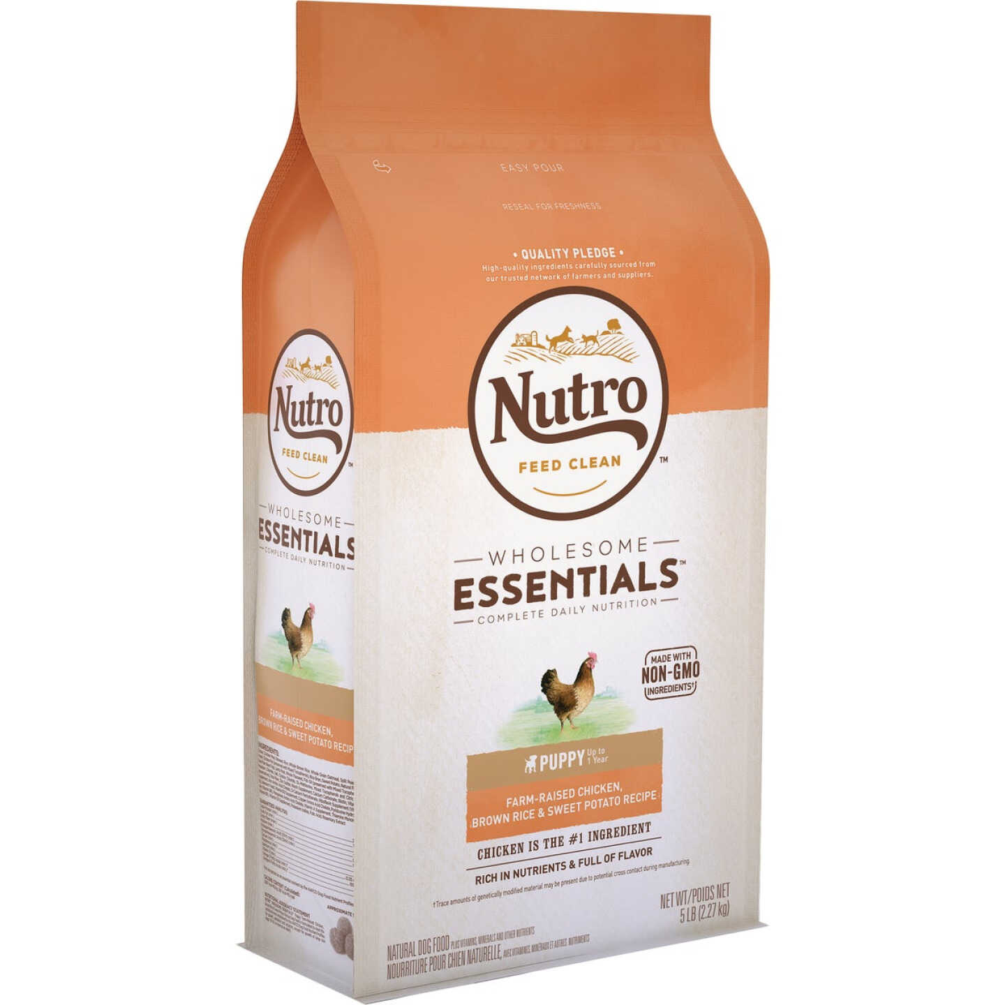 Nutro Wholesome Essentials 5 Lb. Chicken, Brown Rice, & Sweet Potato Dry Puppy Food Image 1