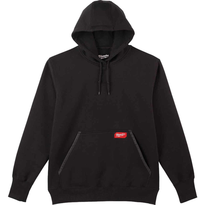 Milwaukee Large Black Heavy-Duty Pullover Hooded Sweatshirt Image 1