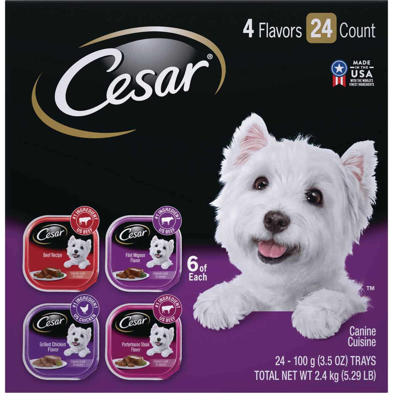 Cesar Classic Loaf Beef/Filet Mignon/Grilled Chicken/Porterhouse Steak Variety Adult Wet Dog Food (36-Pack) Image 1