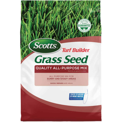 Scotts Turf Builder 20 Lb. Up to 8000 Sq. Ft. Coverage Sun & Shade Northern Grass Seed Mix