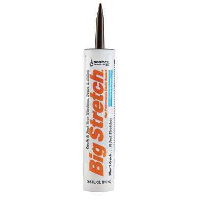 Sashco Big Stretch 10.5 Oz. Acrylic Elastomeric Caulk, Dark Brown